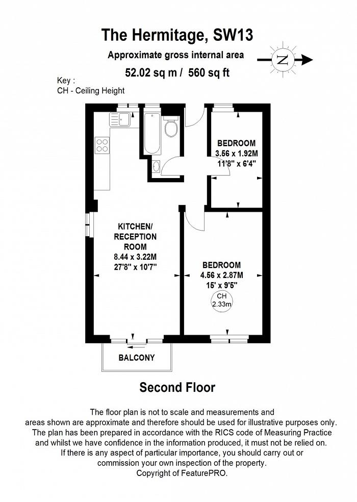 The Hermitage, Barnes, SW13 Floorplan