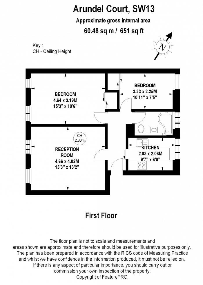 Arundel Court, Arundel Terrace, SW13 Floorplan