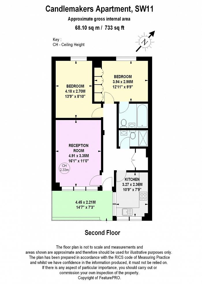 Candlemakers Apartments, 112 York Road, SW11 Floorplan