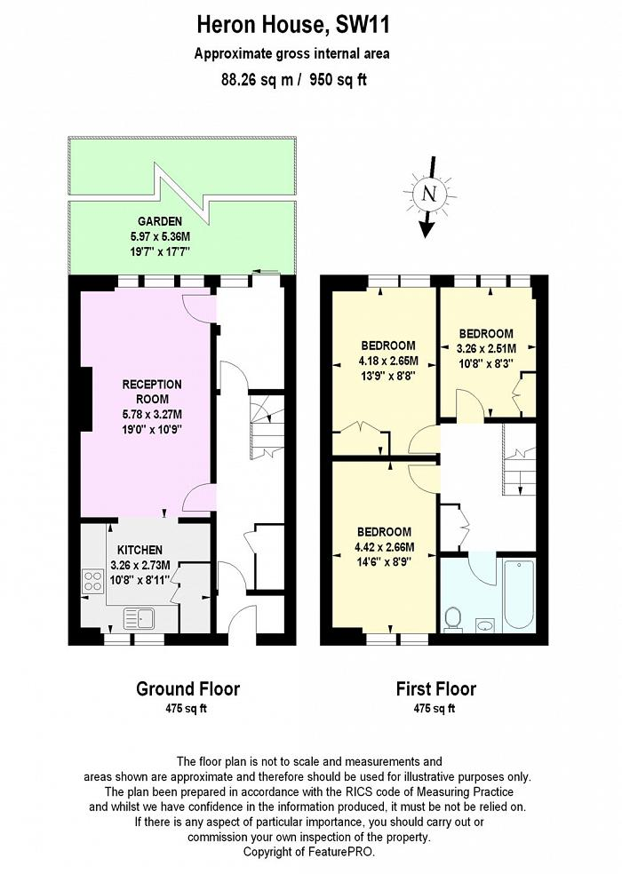 Heron House, Searles Close, SW11 Floorplan