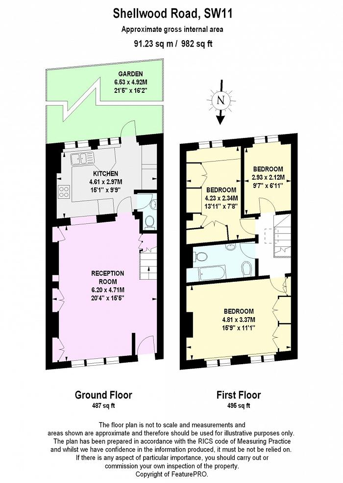 Shellwood Road, Clapham Junction, SW11 Floorplan