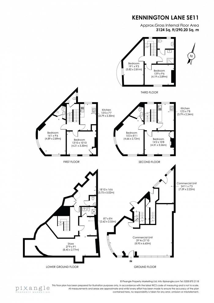 Kennington Lane, Kennington, SE11 Floorplan