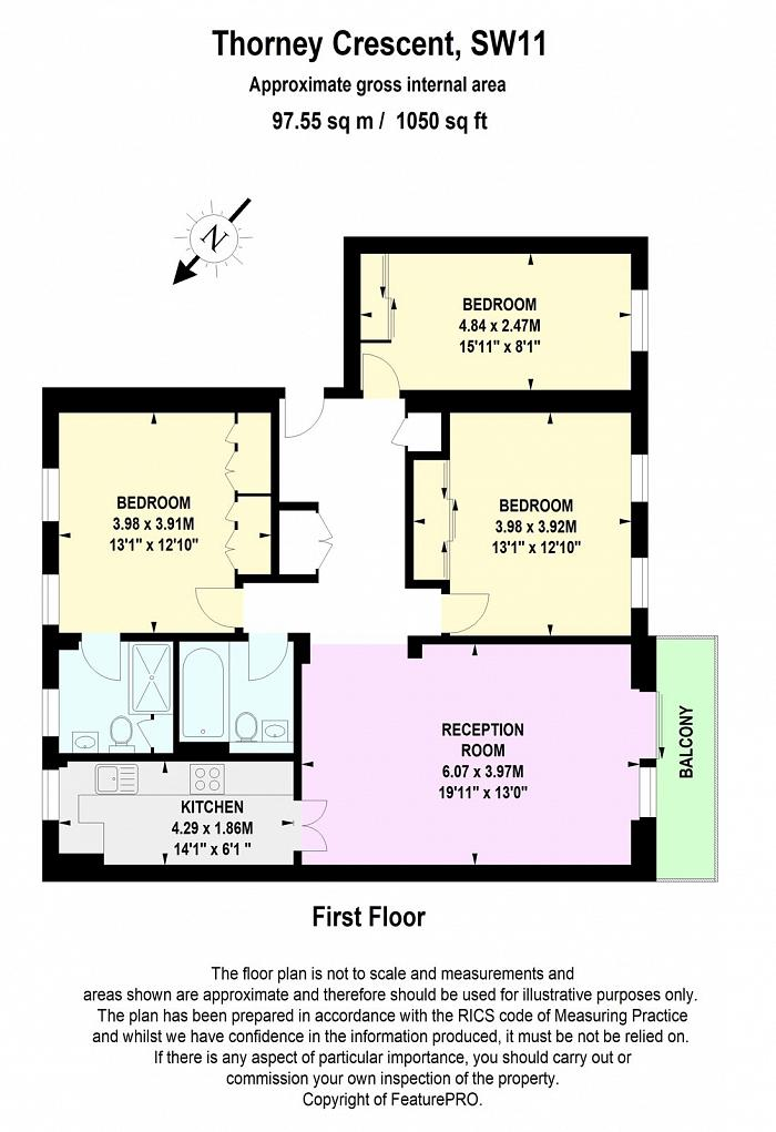 Thorney Crescent, Battersea Park, SW11 Floorplan