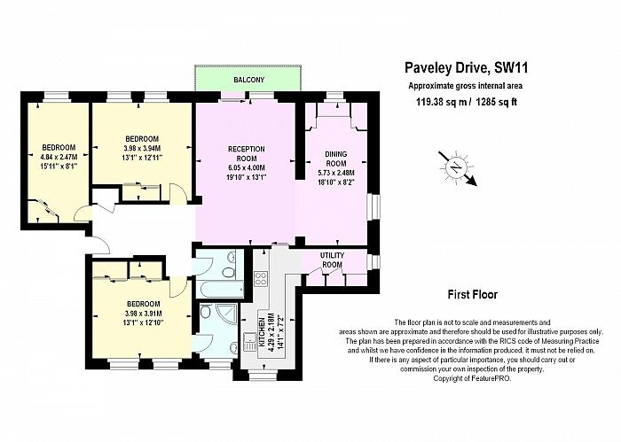 Paveley Drive, Battersea Park, SW11 Floorplan