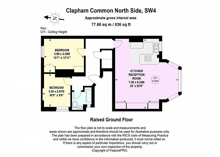 Clapham Common North Side, Battersea, SW4 Floorplan
