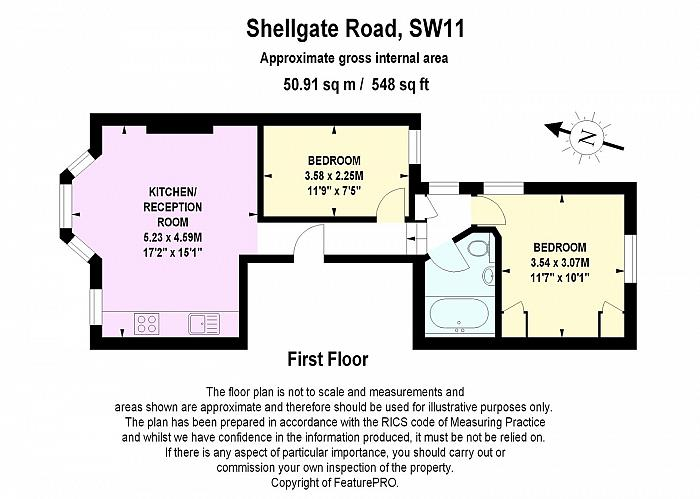 Shelgate Road, Between the Commons, SW11 Floorplan