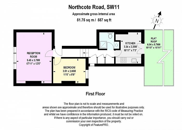 Northcote Road, Battersea, SW11 Floorplan