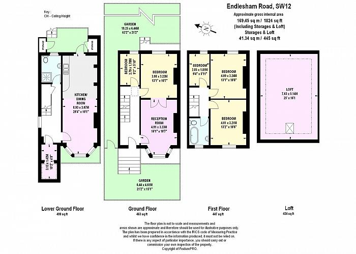 Endlesham Road, Balham, SW12 Floorplan