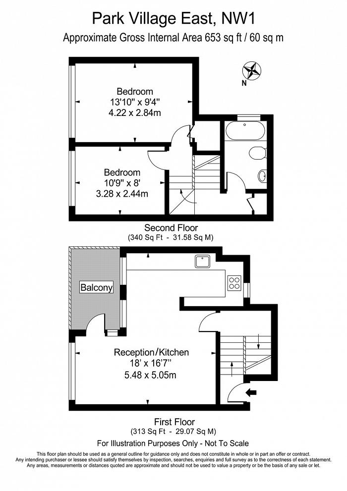 Silsoe House, 50 Park Village East, NW1 Floorplan