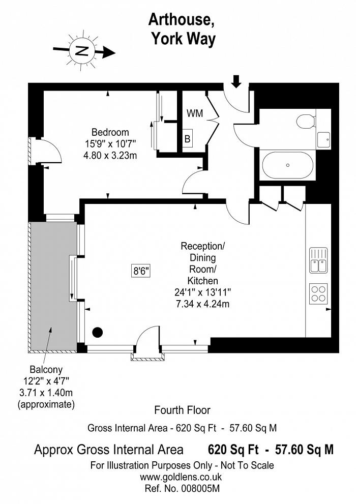 Arthouse, 1 York Way, N1C Floorplan