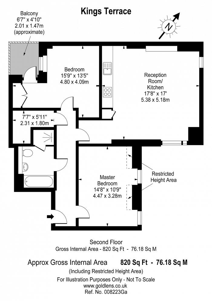 Kings Terrace, Camden Town, NW1 Floorplan