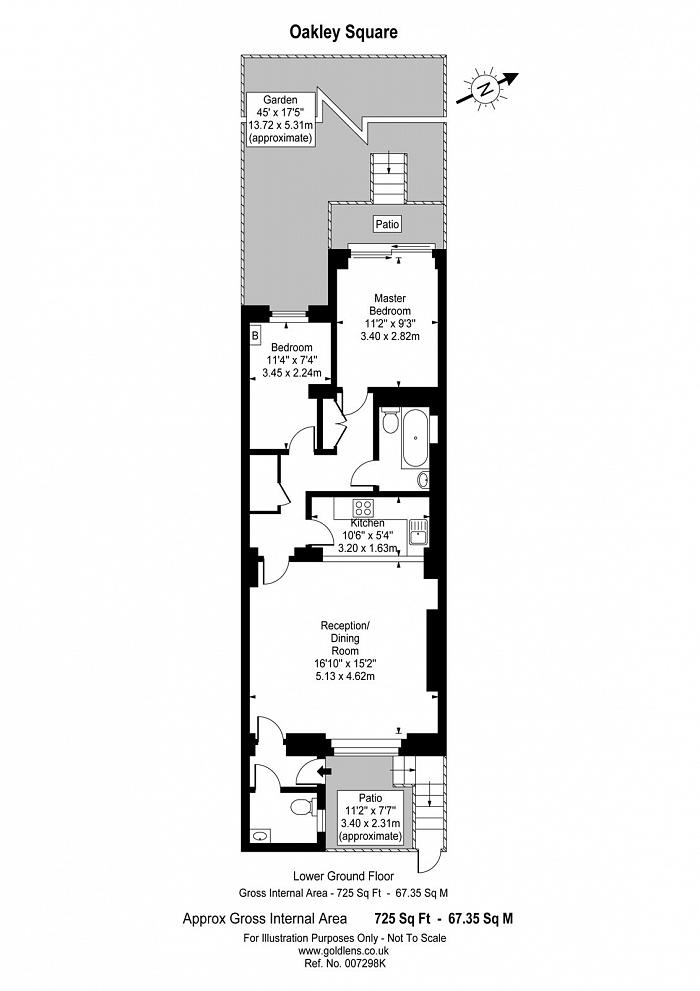 Oakley Square, Mornington Crescent, NW1 Floorplan