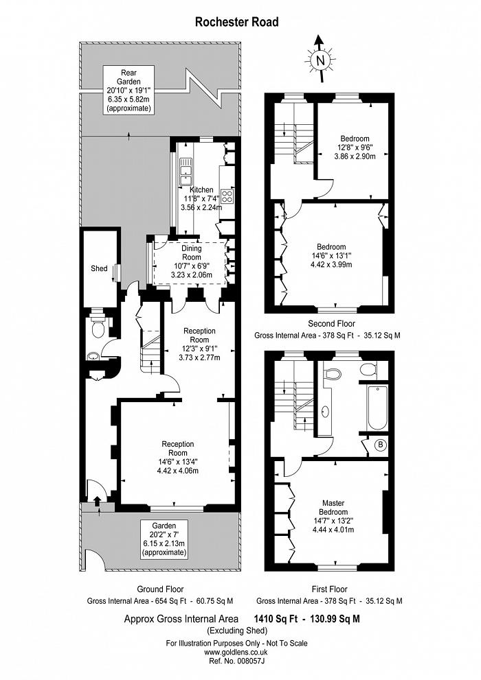 Rochester Road, Camden Town with Primrose Hill, NW1 Floorplan