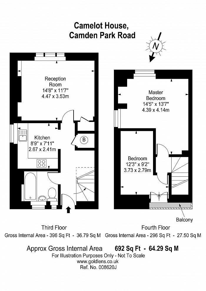 Camelot House, Camden Park Road, NW1 Floorplan