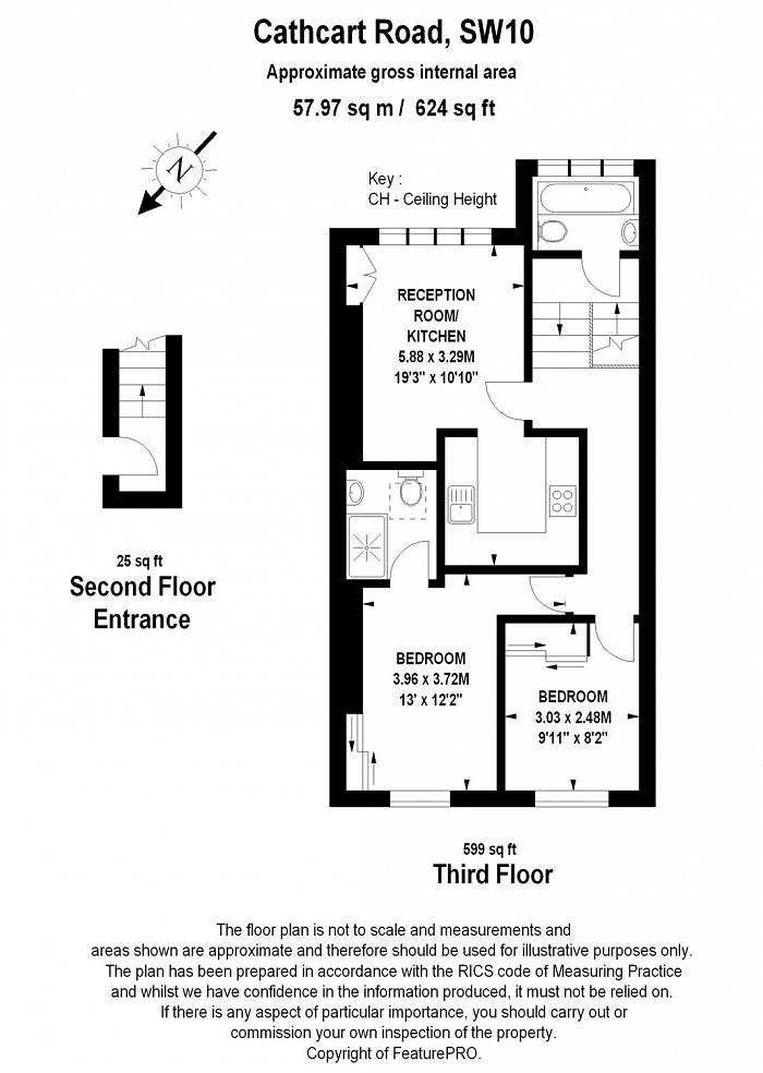 Cathcart Road, Chelsea, SW10 Floorplan