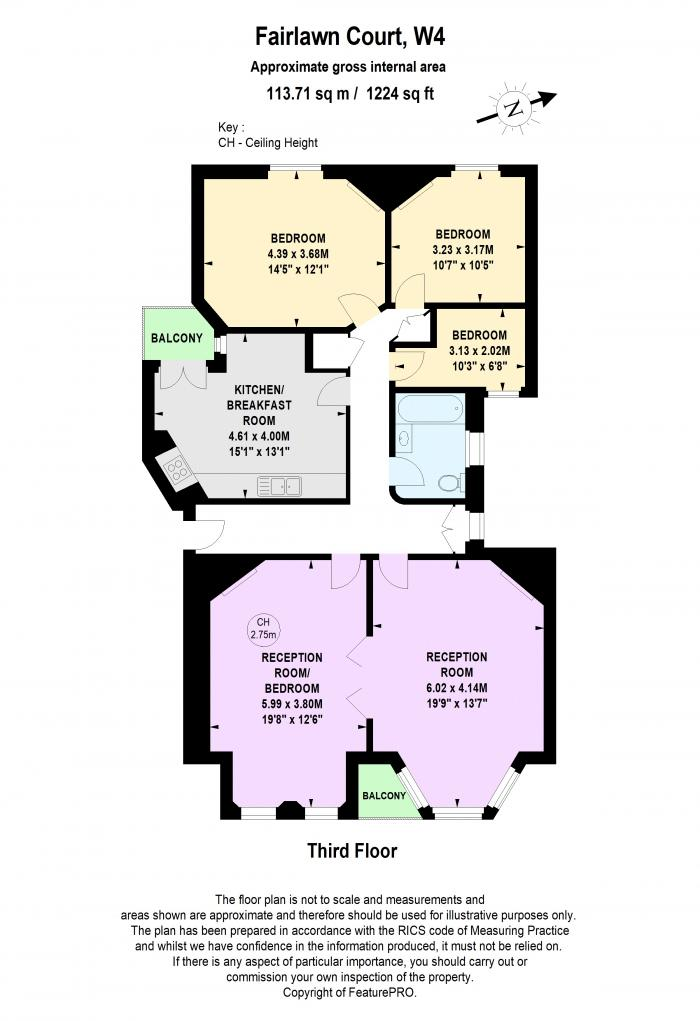 Fairlawn Court, Acton Lane, W4 Floorplan