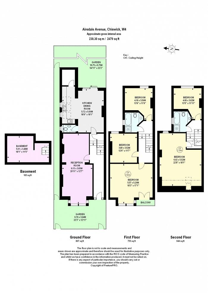 Airedale Avenue, Chiswick, W4 Floorplan
