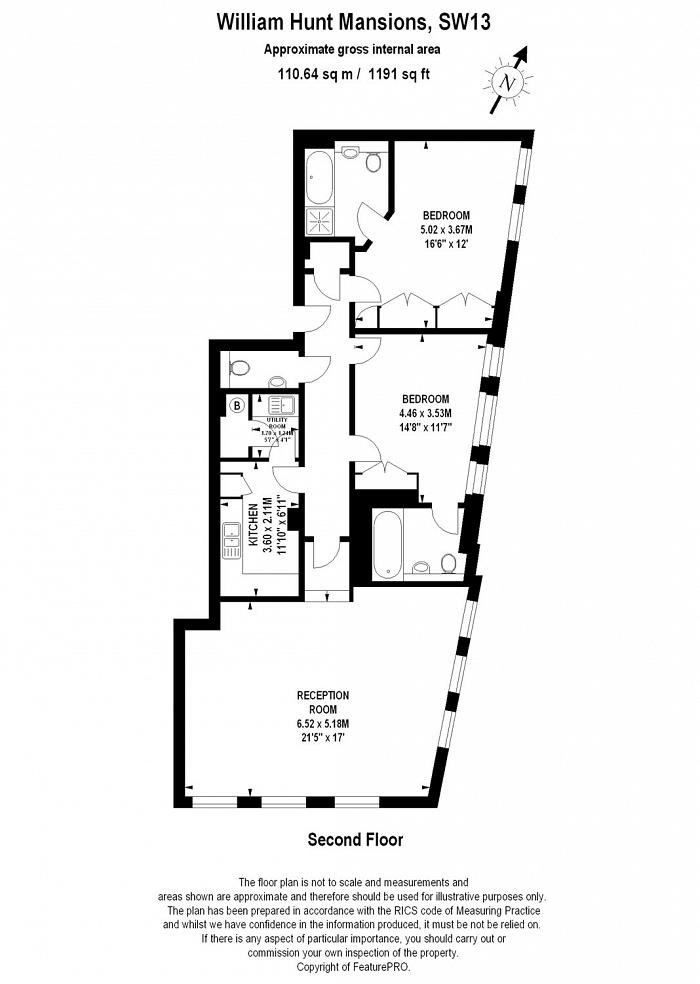 Somerville Avenue, Harrods Village, SW13 Floorplan