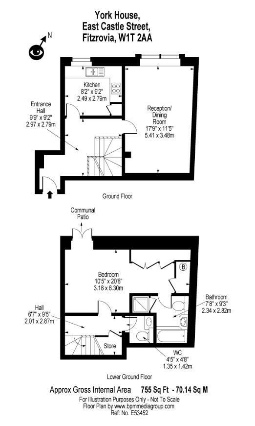 Berners Street, Soho, W1T Floorplan