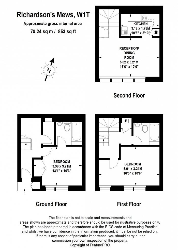 Richardsons Mews, Fitzrovia, W1T Floorplan