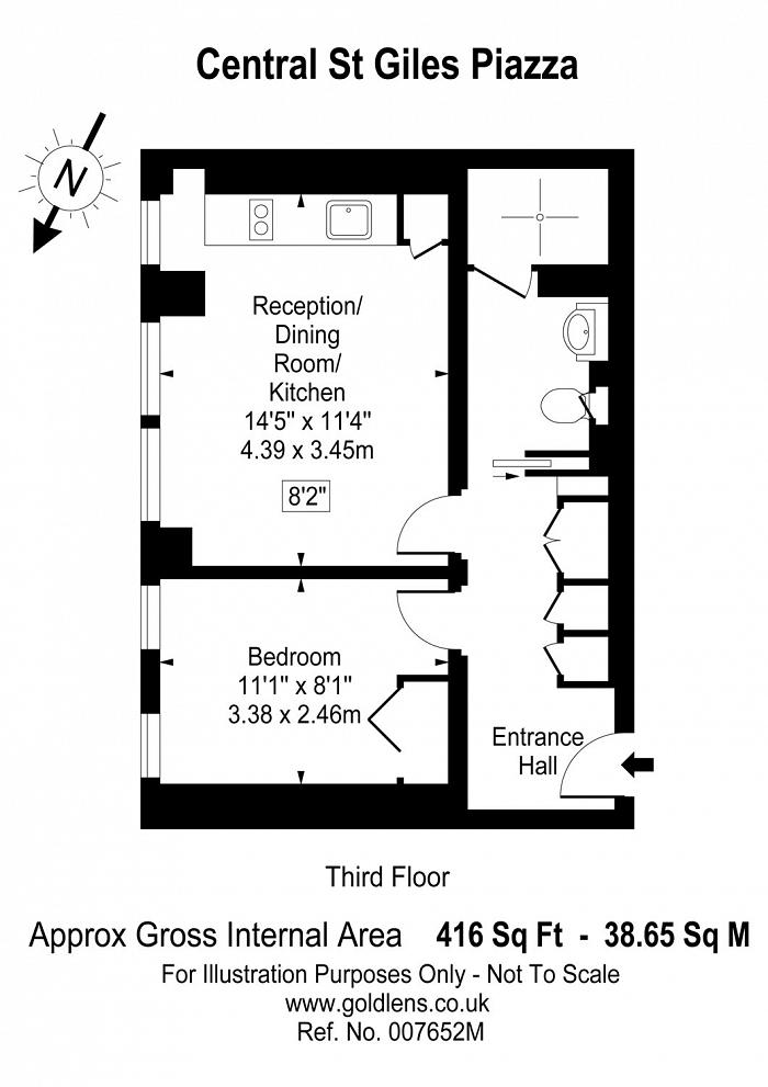 Central St. Giles Piazza, Covent Garden, WC2H Floorplan