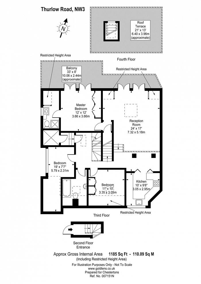 Thurlow Road, Hampstead, NW3 Floorplan