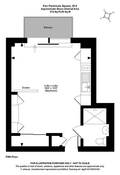 Pan Peninsula Square, Isle Of Dogs, E14 Floorplan