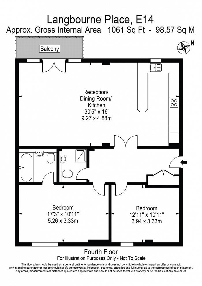 Langbourne Place, Isle Of Dogs, E14 Floorplan