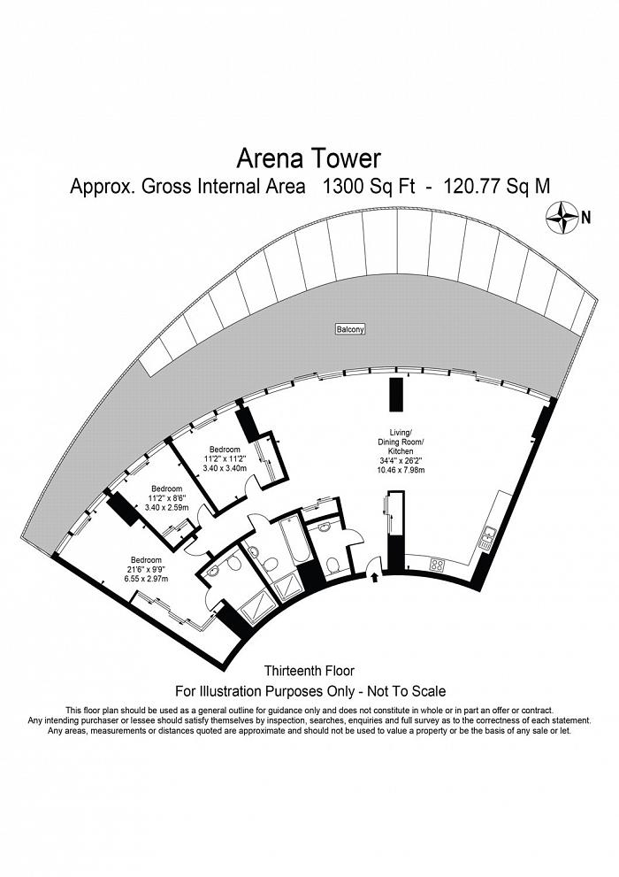 Arena Tower, 25 Crossharbour Plaza, E14 Floorplan