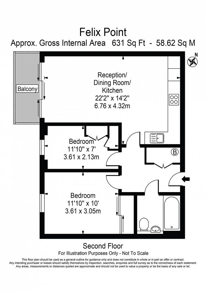 Felix Point, 5 Epstein Square, E14 Floorplan