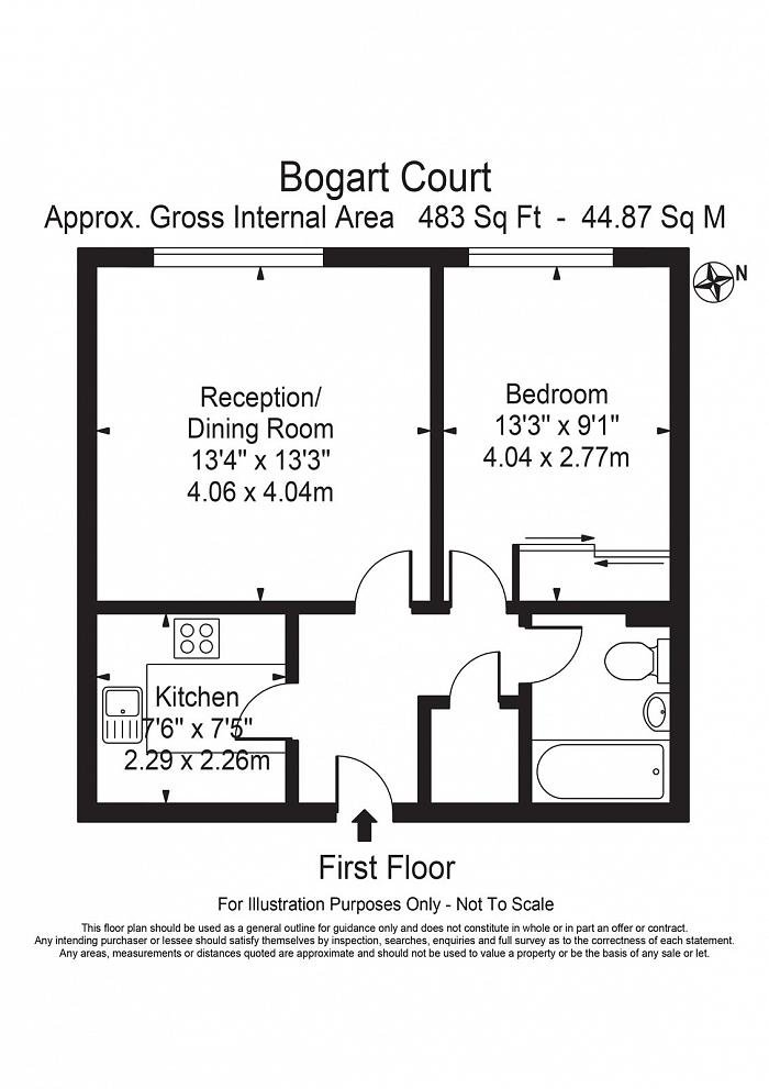 Bogart Court, 2 Premiere Place, E14 Floorplan