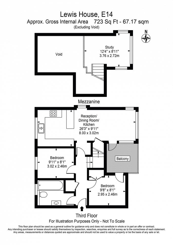 Lewis House, Cold Harbour, E14 Floorplan