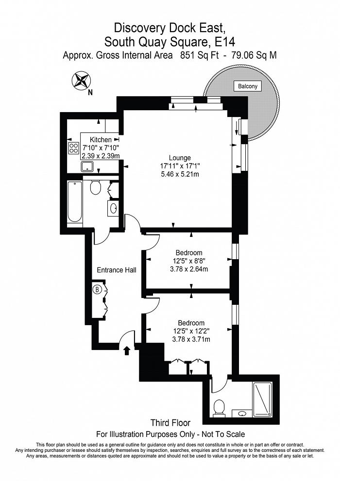 Discovery Dock Apartments East, 3 South Quay Square, E14 Floorplan