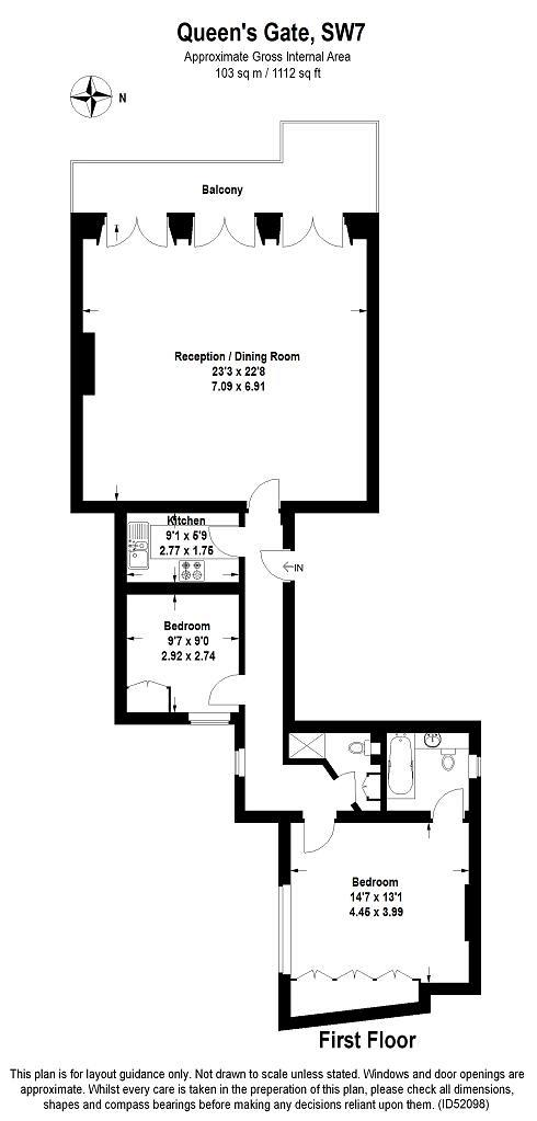 Queens Gate, South Kensington, SW7 Floorplan