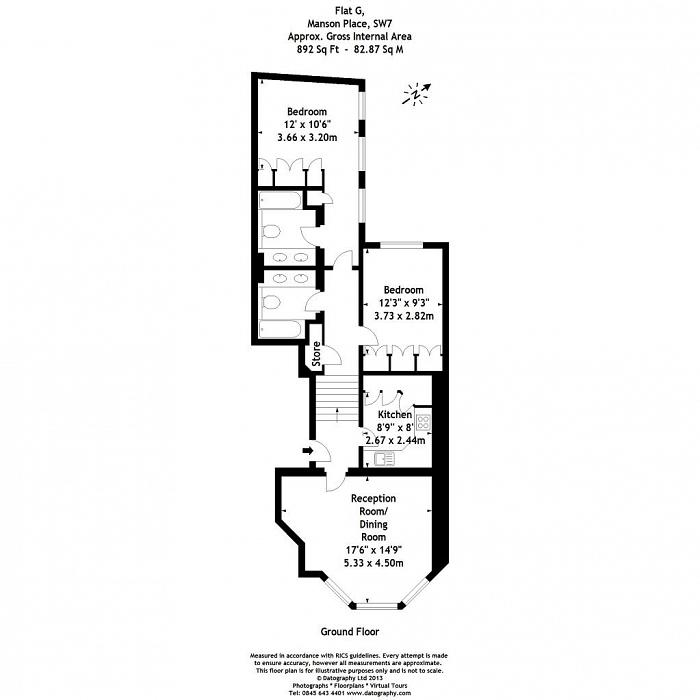 Manson Place, South Kensington, SW7 Floorplan