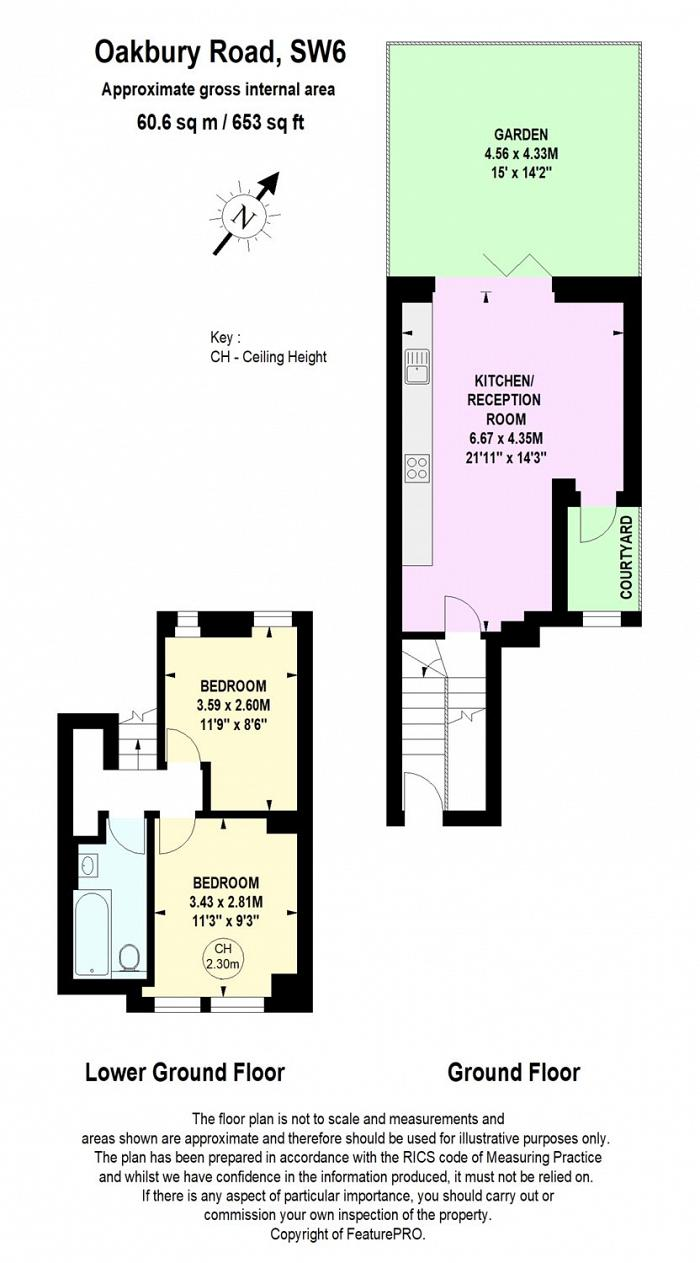 Oakbury Road, Sands End, SW6 Floorplan