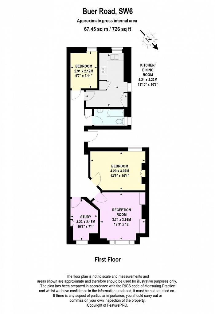 Buer Road, Fulham, SW6 Floorplan