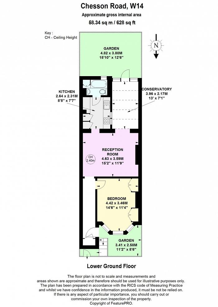 Chesson Road, West Kensington, W14 Floorplan