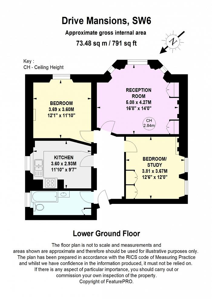 Drive Mansions, Fulham Road, SW6 Floorplan