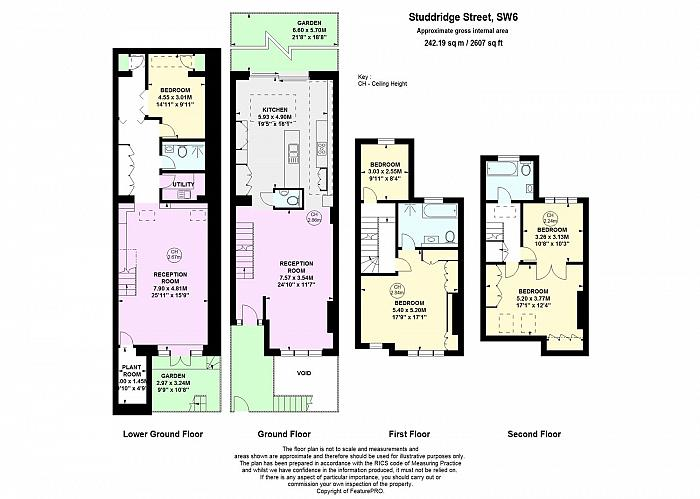 Studdridge Street, Parsons Green, SW6 Floorplan