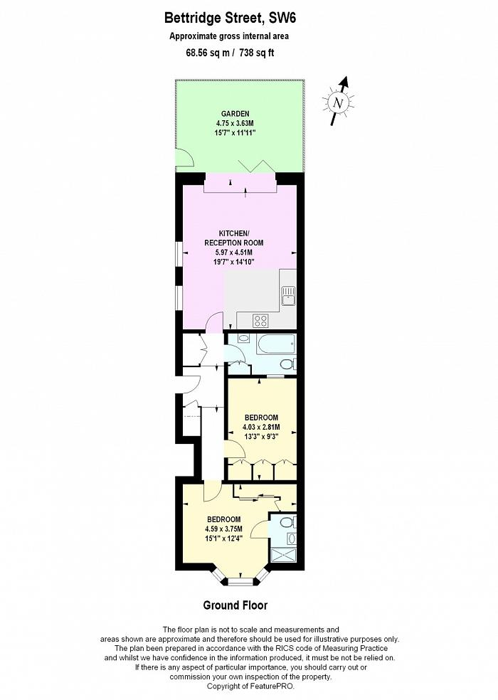 Bettridge Road, Fulham, SW6 Floorplan