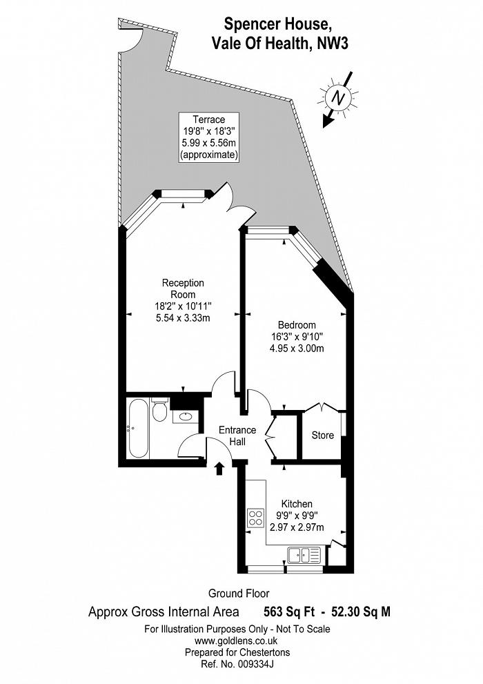 Spencer House, Vale Of Health, NW3 Floorplan