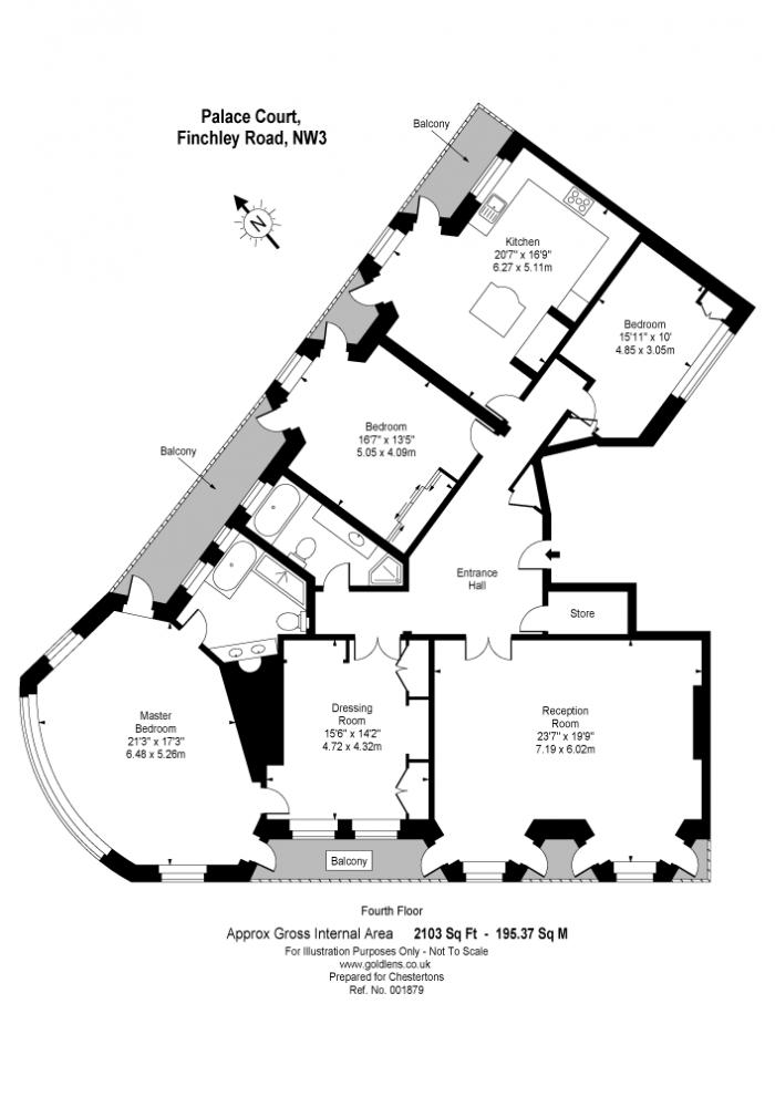 Palace Court, 250 Finchley Road, NW3 Floorplan