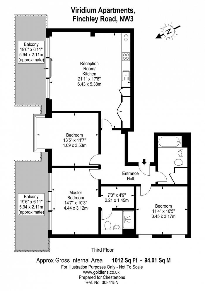 Viridium Apartments, 264-270 Finchley Road, NW3 Floorplan