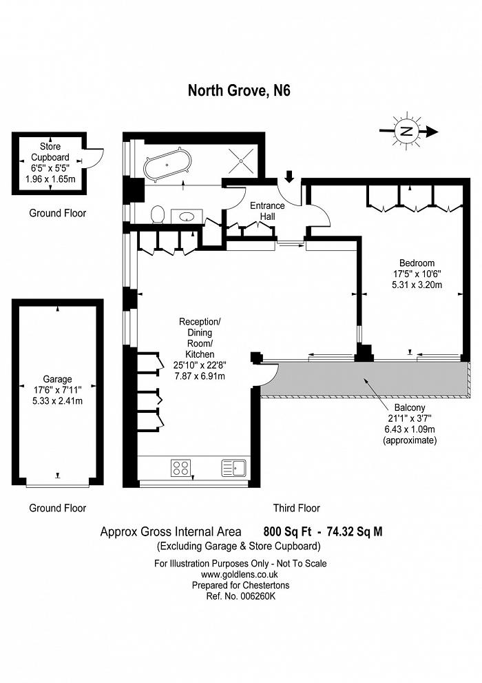 Copper Beech, North Grove, N6 Floorplan