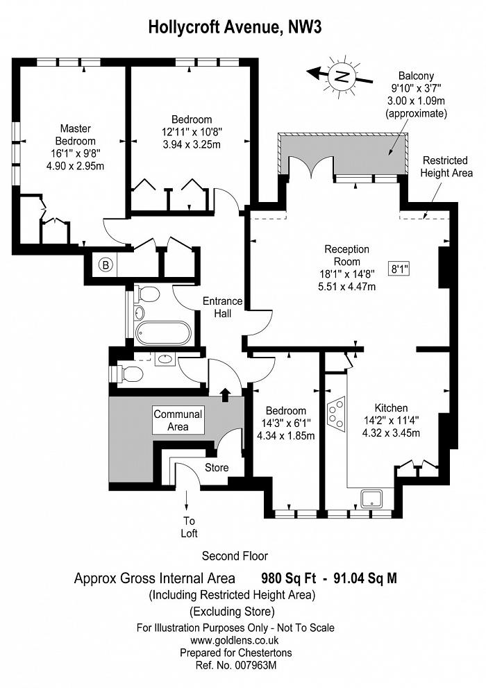 Hollycroft Avenue, Hampstead, NW3 Floorplan