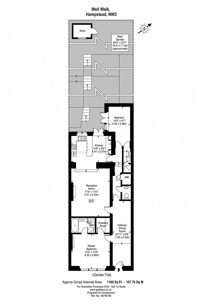 Well Walk, Hampstead Village, NW3 Floorplan