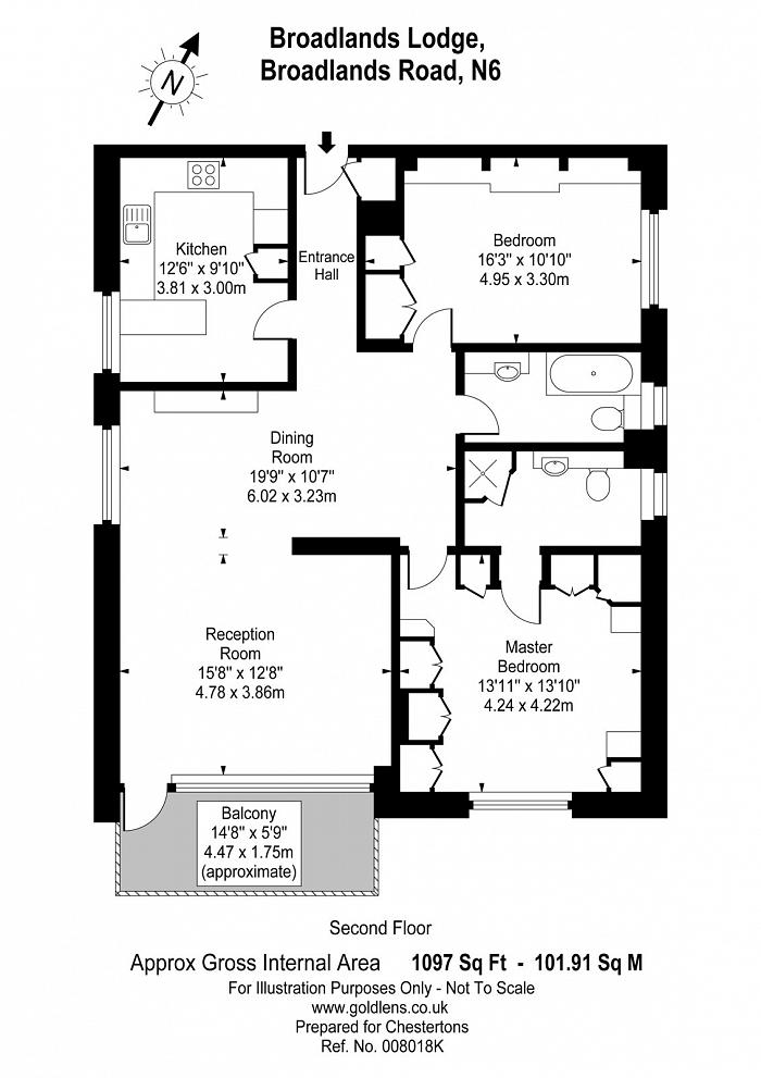 Broadlands Lodge, Broadlands Road, N6 Floorplan