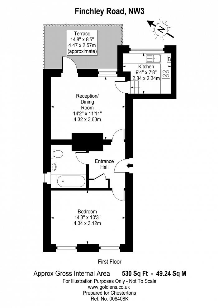 Finchley Road, Cricklewood, NW3 Floorplan