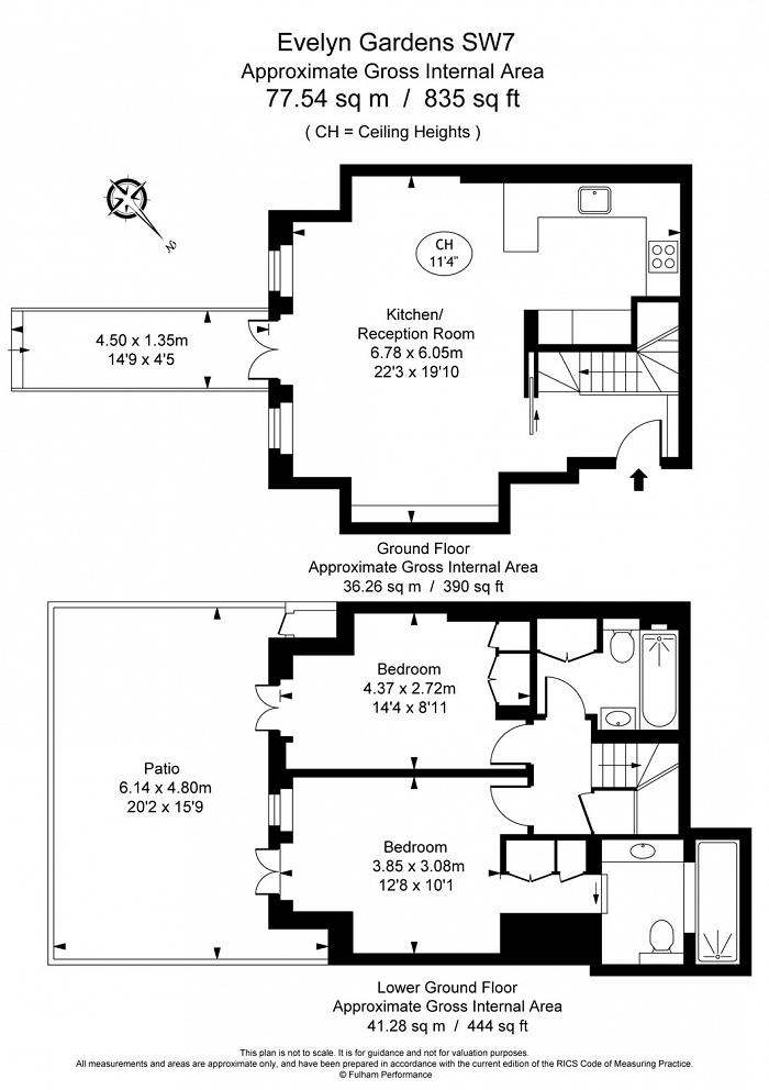 Evelyn Gardens, South Kensington, SW7 Floorplan